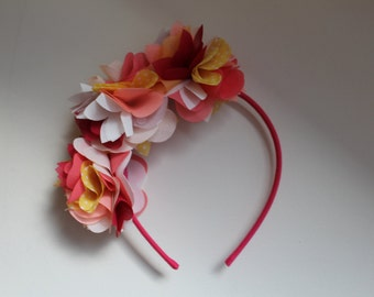 Colorful Chiffon Flower Headband