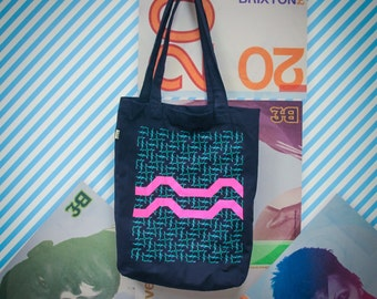 "Brixton Pound ""Barrier Block"" motif tote bag"
