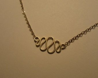 Sterling Silver Squiggle Necklace