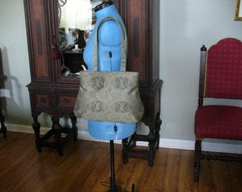 Large Handbag, Shoulder Bag, Light Teal Bag, Purse, Handbag