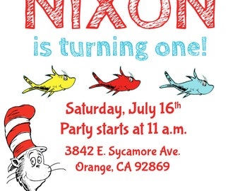 Dr. Seuss Birthday Invite