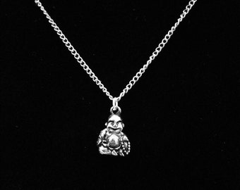 Smiling Buddha Necklace 18""