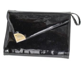 Vintage black patent bag
