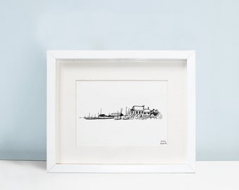 Whistable Harbour Seaside Print