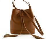 Woman Leather Handbag - Tixie - Tuscan Leather, Genuine Woman Leather Handbag 100% made in italy