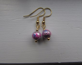 Paint Splattered Earrings