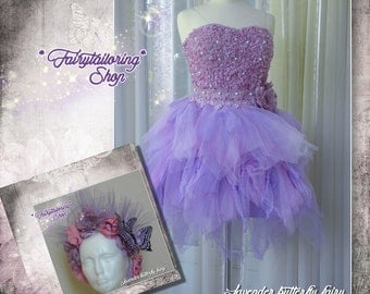 LAVENDER BUTTERFLY FAIRY costume, size S, eur 36 us 4, ooak, free international shipping