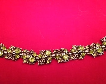 Hollycraft Peridot bracelet
