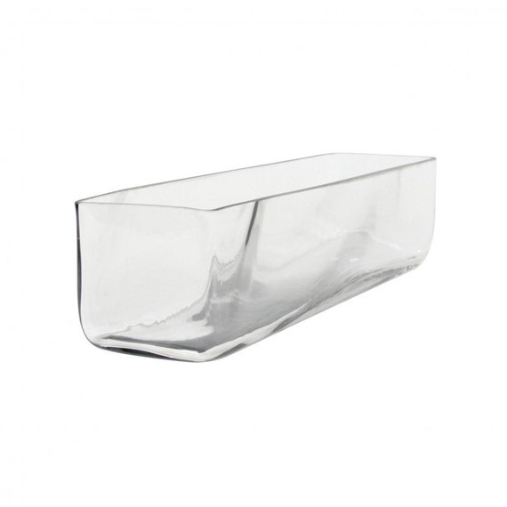 Items similar to quot rectangle long glass vase