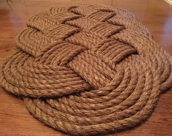 LARGE (41X23), Genuine mnr (Nautical style, and made from 3/4 inch Manila Rope)  (only 3 left)