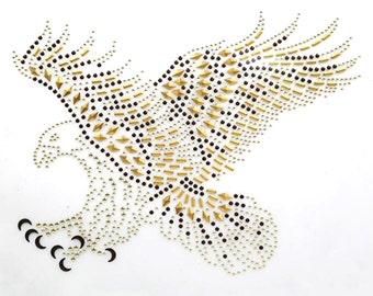 Eagle Rhinestone Iron On Transfer