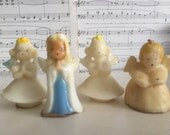 SALE!!! FREE SHIPPING! Vintage lot of 4 Mid Century 1950's Gurley Angels candles