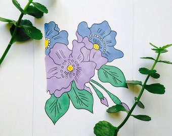 Mini Flower card