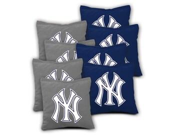 NEW YORK YANKEES Set of 8 Regulation Cornhole Bags Bean Bag Toss