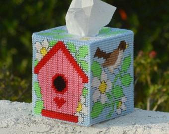 Bird House Tissue Box Cover