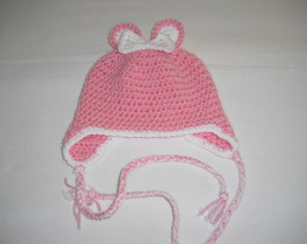 Baby Hat KU 36-38 cm - crochet beret - handmade - crochet - knot Hat - headgear