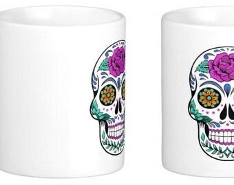 Mexican, Day of the Dead, Sugar Skull, mug, Dia de los Muertos, Candy Skulls, drinks, coffee