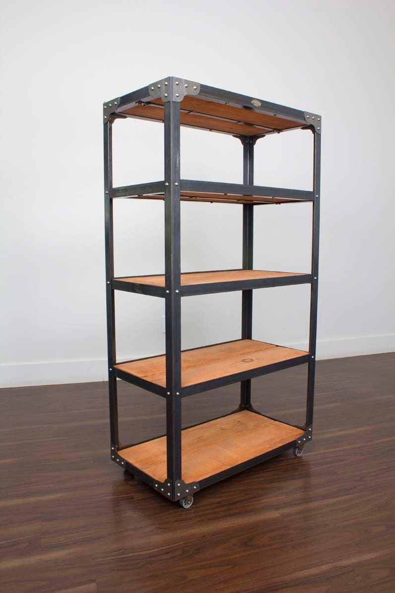 d sseldorf foundry shelf vintage style industrial bookcase. Black Bedroom Furniture Sets. Home Design Ideas