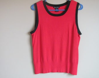 Women's Red Top Size Large