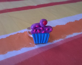 Blueberry Cupcake Ring with Sprinkles