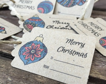 Christmas Tags (Pack of 18) - Eco Friendly, Gift Tags, Christmas Tags, Presents