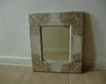 vintage style hanging mirror,wooden wall mirror,upcycled wall mirror,home decor
