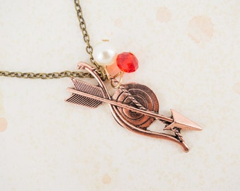 The Hunger Games Inspired Katniss Everdeen Inspired Bow & Arrow Necklace