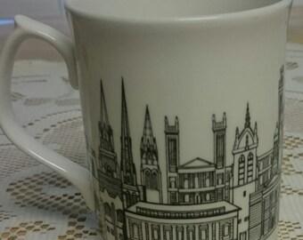 Glasgow's West End Tea/Coffee Mug~Bone China~Designed by A.M. Currie~Designed in Scotland