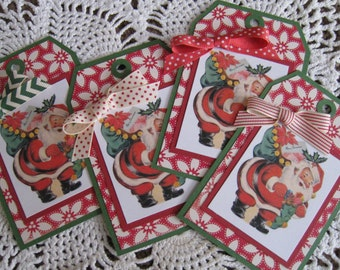 Kitschy Christmas Tags Set of Four