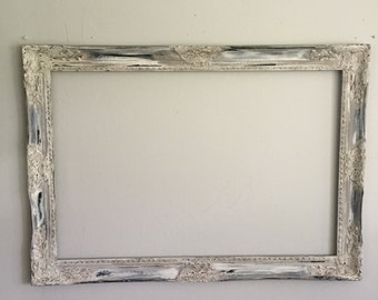 Ornate Custom Frame Gallery Wall Hanging Picture Frames For Sale Rustic Distressed Chalkboard, Mirror, Chicken Wire Option