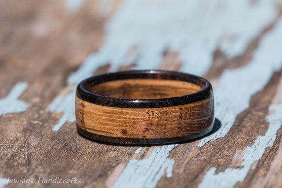 Tennessee Whiskey Barrel And Ebony Wood Ring Whiskey Barrel