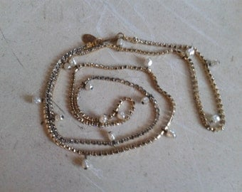 Miriam Haskell Crystal Necklace with Pearls