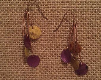 Tiered shell earrings - Boho Earrings - Tiered Earrings