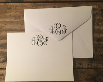 Personalized Monogrammed Stationary