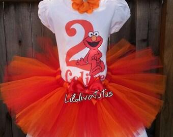 Handmade Elmo tutu set
