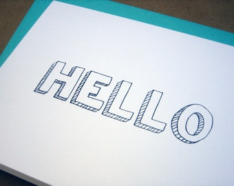 Hello Folded Greeting Card
