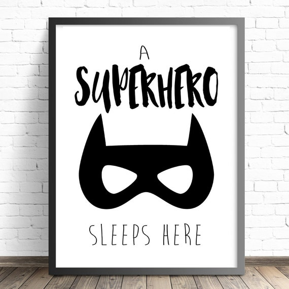 Superhero Nursery Print Batman Nursery Boys Bedroom Wall