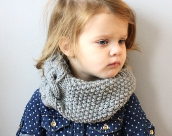 Cabled Toddler Scarf Cowl