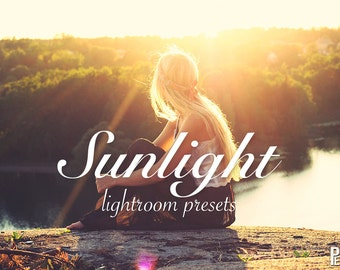 10 Sunlight Presets for Lightroom - Sunny, warmth, warm sunshine effects.