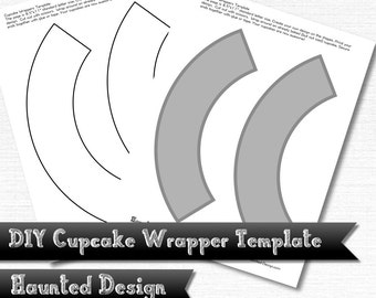 DIY Cupcake Wrapper Template for Parties Weddings Celebrations Baby Showers PNG w/ transparent JPEG Decoration Instant Digital Download