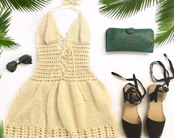 Organic Cotton Crochet Dress