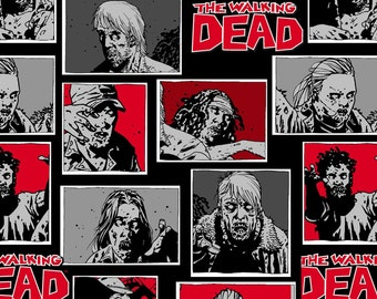 Walking Dead Zombie Fabric By The Yard