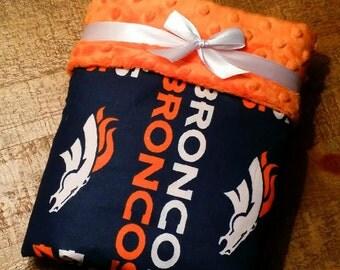 NFL Broncos Football Team Baby Blanket