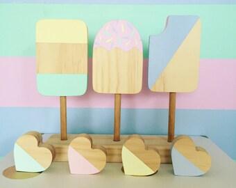 Wooden Icecream Popsicles