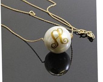 Monogram Pearl Necklace