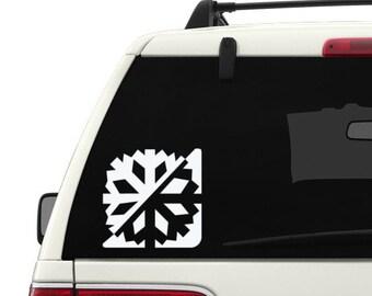 Snowflake emblem vinyl decal sticker