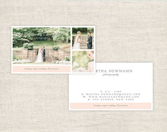 Business Cards Wedding Photography - Photographer Templates, Photo Marketing, Photoshop Files, Photography Branding - INSTANT DOWNLOAD