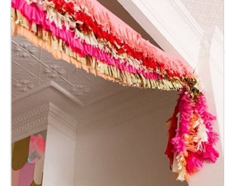 Custom fringe garland
