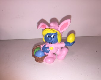 Easter Smurfette in Bunny Suit
