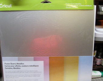 Cricut - Poster Board Metallics & Poster Board Brights  -  6 Sheets each package -